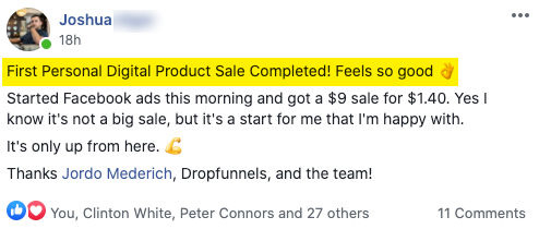 First personal digital product sale completed!